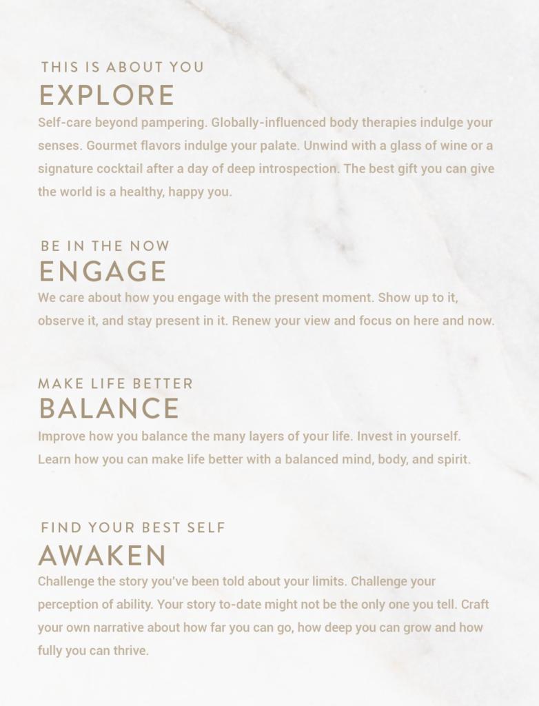explore engage balance awaken